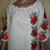 """Одежда ручной работы. Ярмарка Мастеров - ручная работа блузка """"маки асимметрия"""". Handmade."""