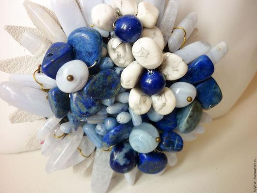 """Броши ручной работы. Ярмарка Мастеров - ручная работа. Купить Брошь """" Полевые цветы"""". Handmade. Синий, весенняя брошь"""