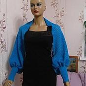 Одежда ручной работы. Ярмарка Мастеров - ручная работа Шраг болеро вязаное ажурное с манжетами. Handmade.