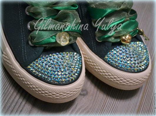 Обувь ручной работы. Ярмарка Мастеров - ручная работа. Купить Зелень. Handmade. Тёмно-зелёный, весна, обувь для улицы, для девушки