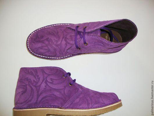 Обувь ручной работы. Ярмарка Мастеров - ручная работа. Купить Фиолетовые Барокко из замши. Handmade. Тёмно-фиолетовый, обувь