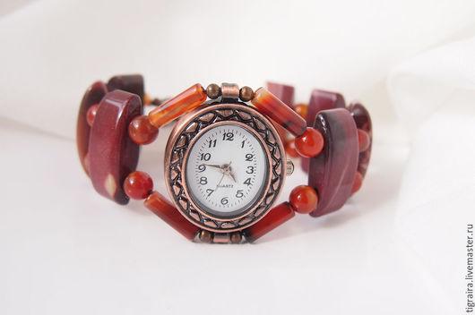 """Часы ручной работы. Ярмарка Мастеров - ручная работа. Купить Часы """"Теплая осень"""". Handmade. Рыжий, подарок женщине"""