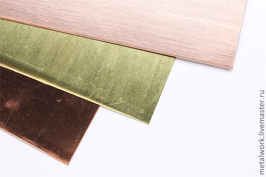 Другие виды рукоделия ручной работы. Ярмарка Мастеров - ручная работа. Купить Латунь листовая ювелирная. Handmade. Желтый, латунь
