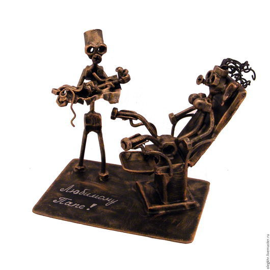 """Миниатюрные модели ручной работы. Ярмарка Мастеров - ручная работа. Купить Врач-акушер  """"стоящий у ложа"""". Handmade. Скульптурная миниатюра"""