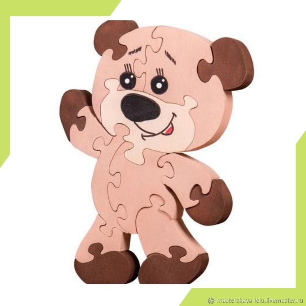 Пазл деревянный Мишка, Развивающие игрушки, Петрозаводск, Фото №1