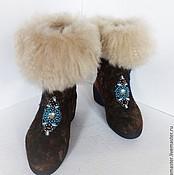 """Обувь ручной работы. Ярмарка Мастеров - ручная работа Сапожки валяные. Валенки.Валенки на подошве """"Автоледи"""". Handmade."""