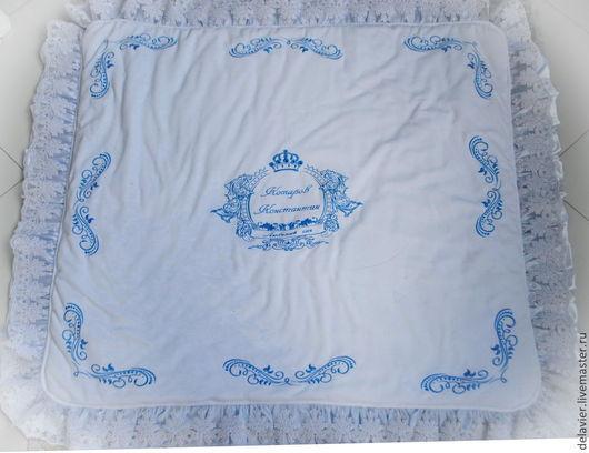 """Для новорожденных, ручной работы. Ярмарка Мастеров - ручная работа. Купить Зимнее/демисезонное одеяло ка выписку """"Принц"""". Handmade. Белый"""