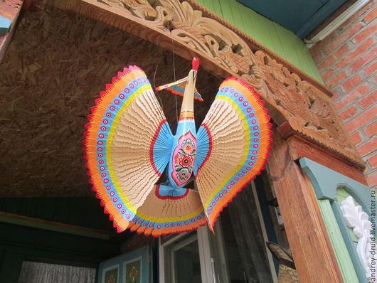 Сувениры ручной работы. Ярмарка Мастеров - ручная работа. Купить Украшение интерьера, украшение для дома щепная птица Счастья. Handmade.
