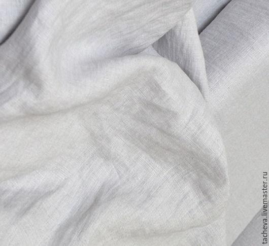 Шитье ручной работы. Ярмарка Мастеров - ручная работа. Купить Ткань льняная сорочечная- ракушечный жемчуг (отрезы). Handmade. Серый