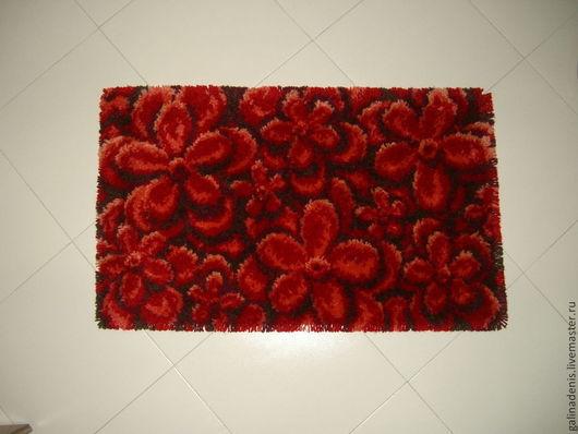 Текстиль, ковры ручной работы. Ярмарка Мастеров - ручная работа. Купить Красная красота. Коврик. Handmade. Ярко-красный, коврик