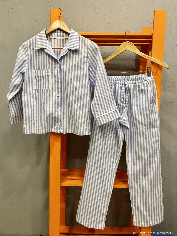 Льняная пижама – купить на Ярмарке Мастеров – ESU0RRU | Костюмы, Москва