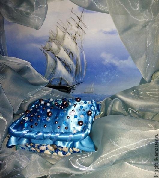 Шкатулки ручной работы. Ярмарка Мастеров - ручная работа. Купить Шкатулка со дна морского океана. Handmade. Голубой