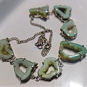 Украшения handmade. Livemaster - original item Necklace agate Mint from the agate slices good. Handmade.