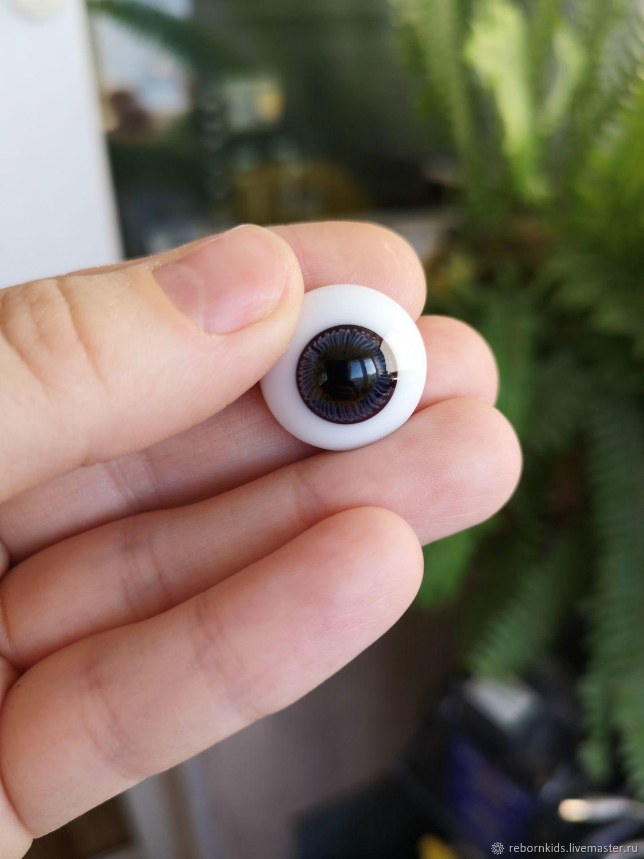 Куклы и игрушки ручной работы. Ярмарка Мастеров - ручная работа. Купить Глаза стекло для реборн Лауша полусфера 20 мм. Handmade.