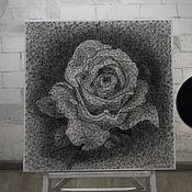 """Картины и панно ручной работы. Ярмарка Мастеров - ручная работа картина """"Роза"""" в стиле стринг арт. Handmade."""