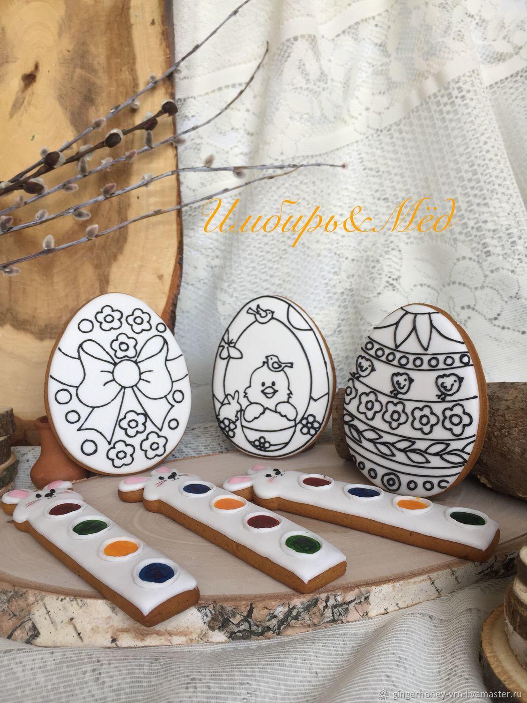 имбирный пряник раскраска пасхальное яйцо заказать на ярмарке мастеров Ik1b7ru пряники воронеж