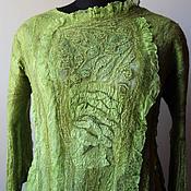 Одежда ручной работы. Ярмарка Мастеров - ручная работа Валяная блузка Когда цветет олива. Handmade.