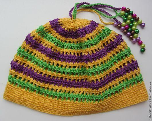 Шапки и шарфы ручной работы. Ярмарка Мастеров - ручная работа. Купить Вязаная шапочка для девочки большого размера. Handmade.