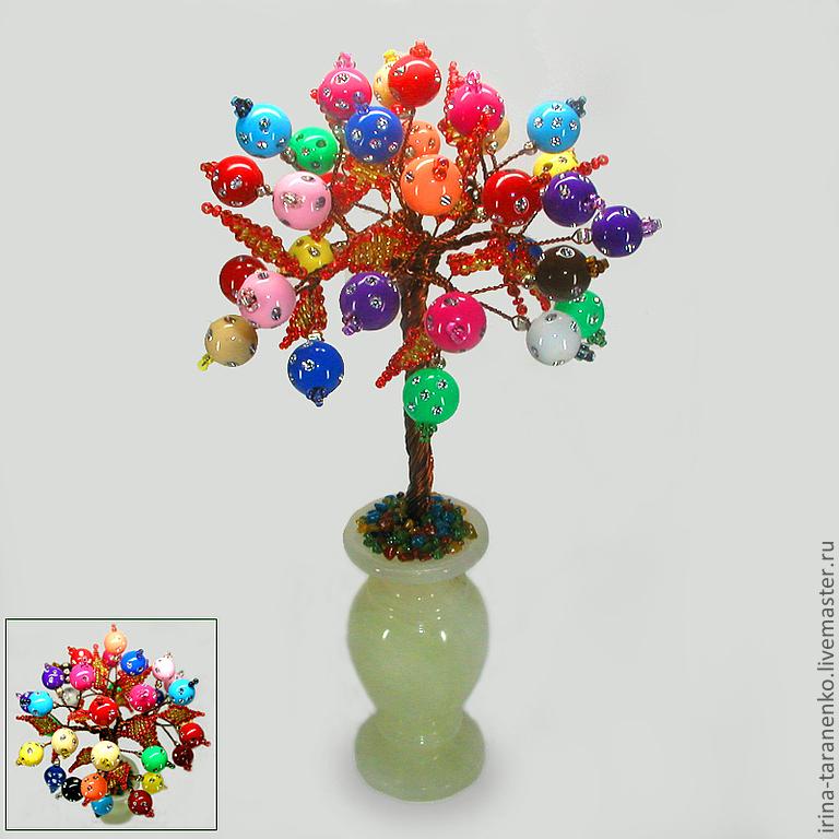 Colored wood bead