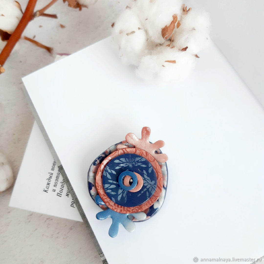 Brooch Coral reefs made of polymer clay, Brooches, Domodedovo,  Фото №1