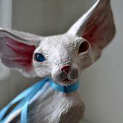 Для дома и интерьера handmade. Livemaster - original item Gordey. Snow Oriental boy with different eyes. Handmade.
