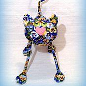 Куклы и игрушки ручной работы. Ярмарка Мастеров - ручная работа Цветочный  кот  )). Handmade.