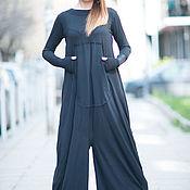 Одежда handmade. Livemaster - original item Women`s black jumpsuit with large pocket - JP0400TR. Handmade.