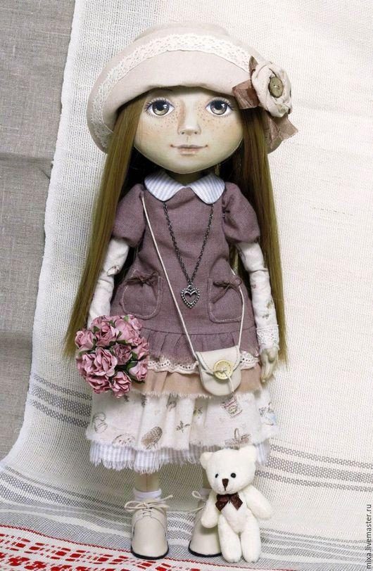 Коллекционные куклы ручной работы. Ярмарка Мастеров - ручная работа. Купить Анюта_повтор. Handmade. Кукла ручной работы, подарок девочке