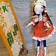 Коллекционные куклы ручной работы. Ярмарка Мастеров - ручная работа. Купить Кукла Художница, кисти, краски, текстиь. Handmade. Художник