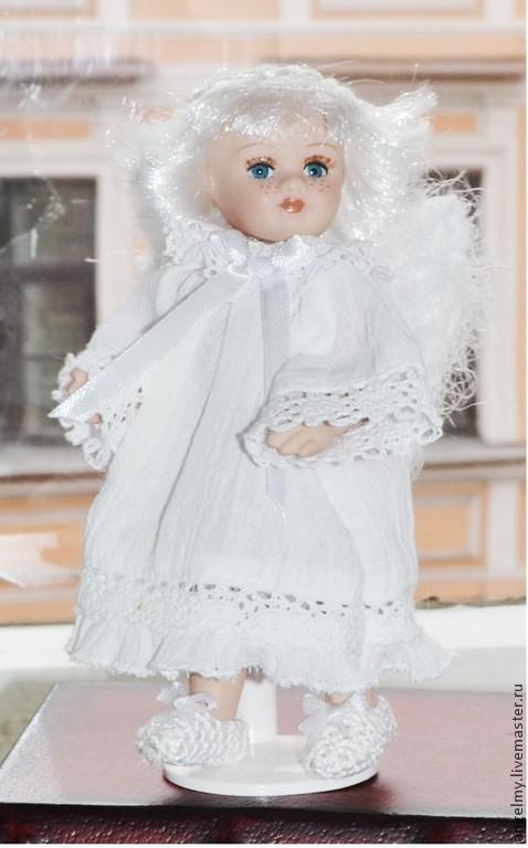 Коллекционные куклы ручной работы. Ярмарка Мастеров - ручная работа. Купить Куколка маленький Ангелочек, фарфор, арт. № 053. Handmade.