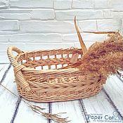 Корзины ручной работы. Ярмарка Мастеров - ручная работа Корзина для фруктов овальная. Handmade.