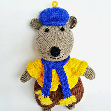 Dolls & toys handmade. Livemaster - original item Toys: Mouse Peak knitting needles.. Handmade.