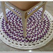 Для дома и интерьера handmade. Livemaster - original item Mat knitted from a cord round Italy-3. Handmade.