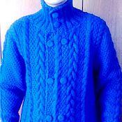 Одежда handmade. Livemaster - original item Cardigan mens. Royal. Spokes. Handmade.