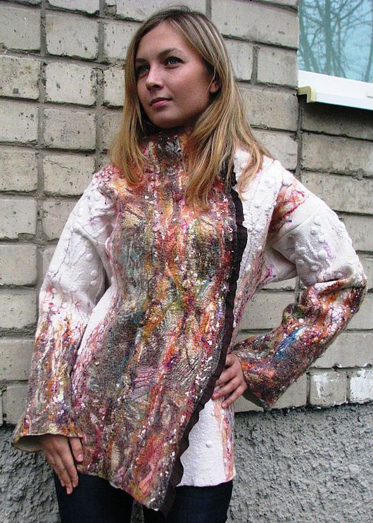 """Верхняя одежда ручной работы. Ярмарка Мастеров - ручная работа. Купить Валяная куртка """"Тихий шепот уходящей осени"""". Handmade."""
