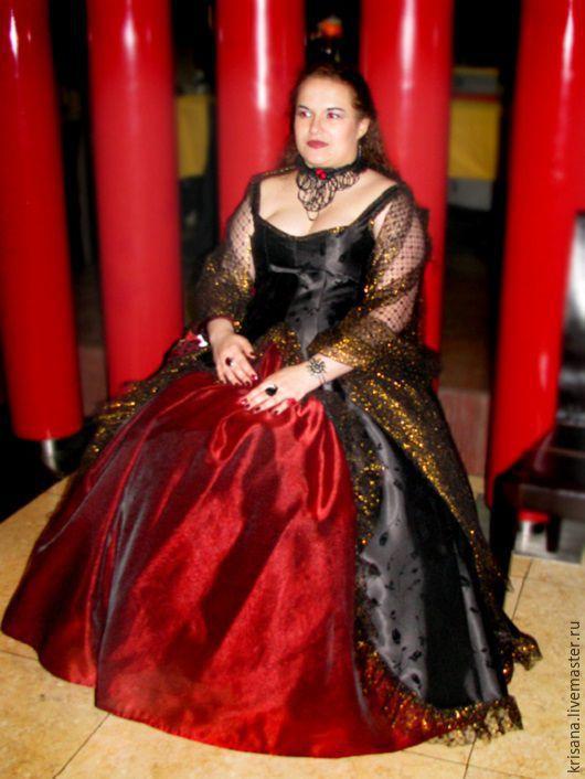Платья ручной работы. Ярмарка Мастеров - ручная работа. Купить Платье бальное, черное с красным. Handmade. Платье на заказ, косплей