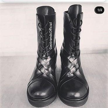 Обувь ручной работы. Ярмарка Мастеров - ручная работа Ботинки: Женская обувь ручной работы. Handmade.