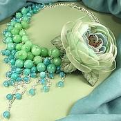 Украшения handmade. Livemaster - original item Lake Parfait or the Second SIP of Spring. Necklace, brooch flower. Handmade.