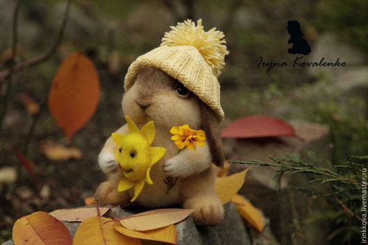 Игрушки животные, ручной работы. Ярмарка Мастеров - ручная работа. Купить Солнечный зайчик. Handmade. Желтый, кролик, игрушка заяц