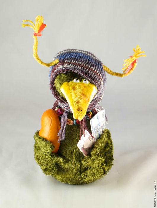 Персональные подарки ручной работы. Ярмарка Мастеров - ручная работа. Купить Птица счастья-2. Handmade. Тёмно-зелёный