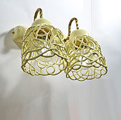 Для дома и интерьера handmade. Livemaster - original item Vanilla openwork double wall light. Handmade.