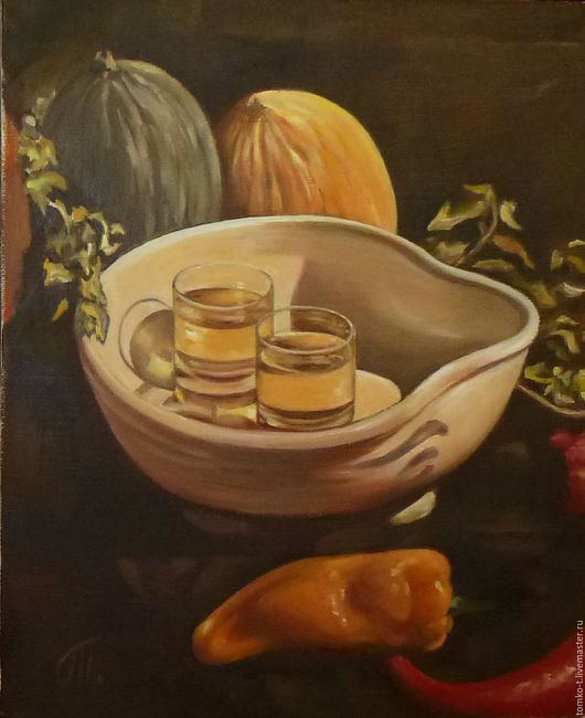Осенний натюрморт.Холст, масло.