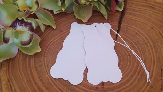Упаковка ручной работы. Ярмарка Мастеров - ручная работа. Купить Бирки на нитке 5 на 10 см. Handmade. Белый, бирки