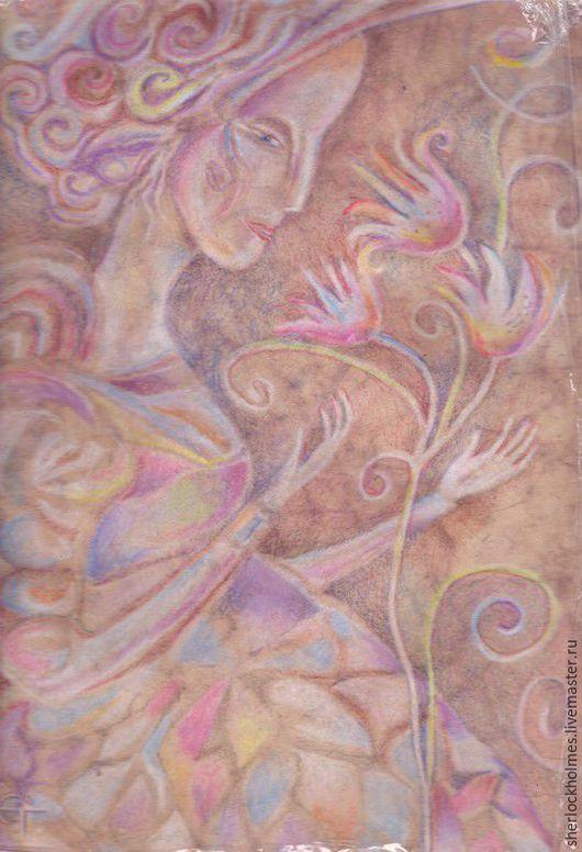 Фантазийные сюжеты ручной работы. Ярмарка Мастеров - ручная работа. Купить Долина Фей.. Handmade. Брусничный, картина для интерьера, иллюстрации