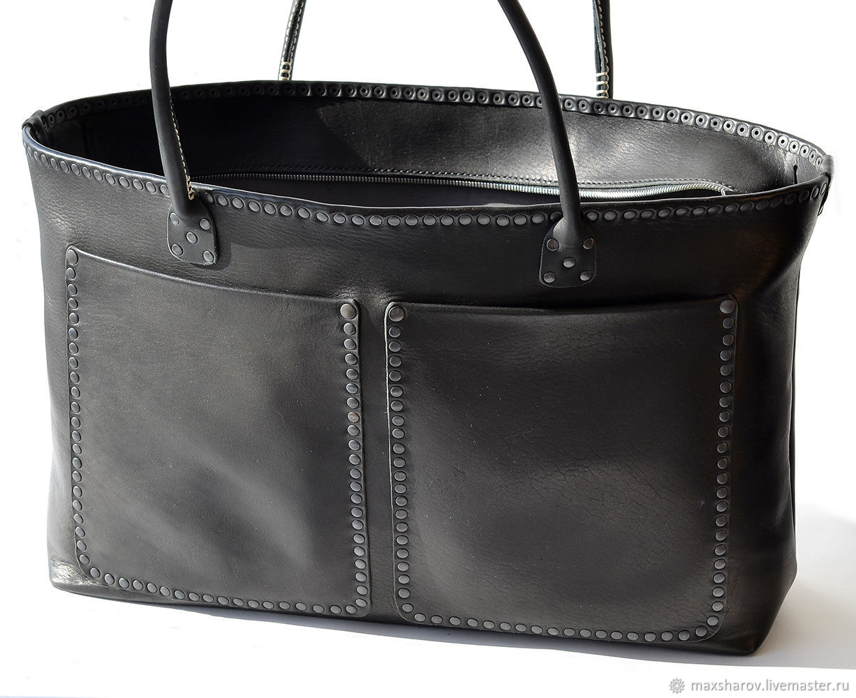 d8ed06175687 Hand crafted leather bag. Art 149 Vena Black – shop online on ...