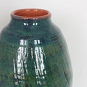 Для дома и интерьера ручной работы. Ярмарка Мастеров - ручная работа Ваза керамическая Синь и зелень. Handmade.