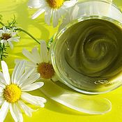 handmade. Livemaster - original item A face mask with Chamomile and Cucumber. For sensitive skin. Handmade.