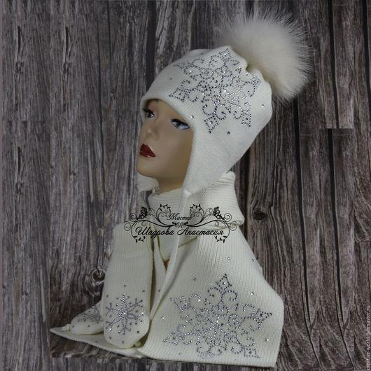 Шапки и шарфы ручной работы. Ярмарка Мастеров - ручная работа. Купить теплая мериносовая шапочка. Handmade. Мериносовая шапка
