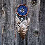 Dream catcher handmade. Livemaster - original item Dream catcher with feathers of the hawk Blue Dreamcatcher. Handmade.