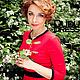 Платья ручной работы. Заказать Красное платье с контрастной отделкой. Dudu-dress. Ярмарка Мастеров. Красное платье, красивое платье